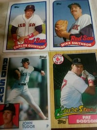 four assorted baseball player trading cards Windsor, 06095