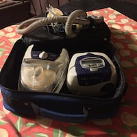 white and blue canister vacuum cleaner in box Riverview, E1B 5B5