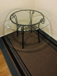 Glass Dining Table with Four Chairs Madison Heights, 48071