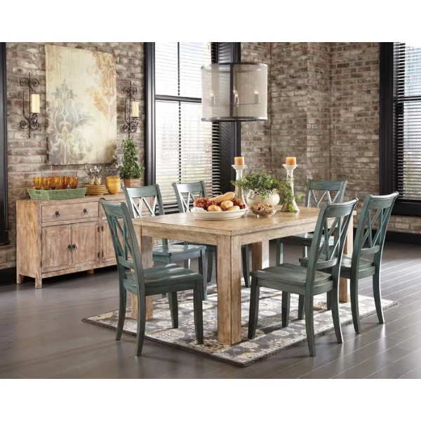 4 Blue Green Ashley Furniture Dining Chairs No Table Usado En