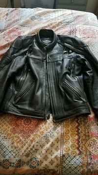black leather zip-up jacket Grand Junction, 81503