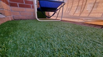 Ikea Patio/Balcony Flooring - Wood & Grass