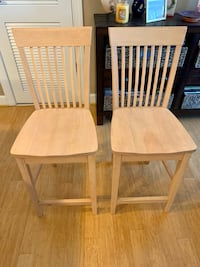 Two counter height bar stools - sold together only
