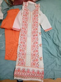 women's red and white floral traditional dress Regina, S4T 3L4