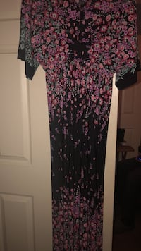 black, pink, and green floral long sleeve dress La Vergne, 37086