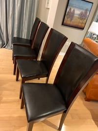 Four dining chairs $200 for all four, minor scratches very sturdy Burlington