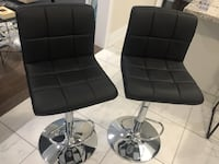 Black Leather Bar Stools Brampton