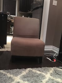 brown fabric sofa chair with ottoman Barrie, L4N