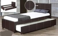 BRAND NEW LEATHER BED FRAME WITH TRUNDLE - FREE DELIVERY IN GTA TORONTO