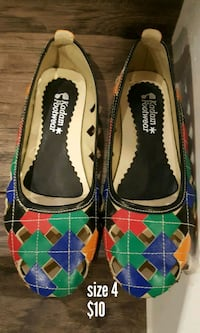 black and green leather flats Milton, L9T 7A4