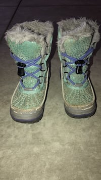 Sorel boots purple & turquoise (kids size 10 Middlesex Centre, N0M