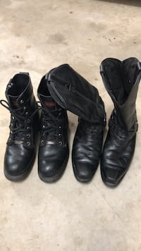 two pairs of black leather boots Mustang, 73064
