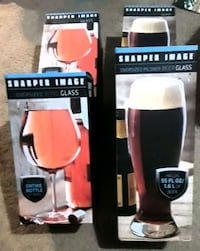 Sharper image oversized beer and wine glasses Great Falls, 59401