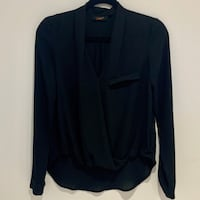 Dex | Black Long Sleeve Wrap Blouse Toronto, M1V 2J4