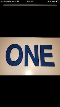"""""""ONE"""" letters"""