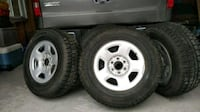 """17"""" winter tires with rims - barely used Whitchurch-Stouffville, L4A"""