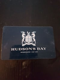 Hudson bay gift card with 100$ value for 85$