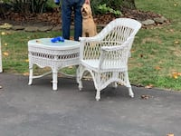 Wicker Chair and Table w/ Glass Table  Swedesboro, 08085