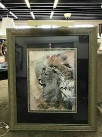 Lion Wall Art with Mounted Light Fort Lauderdale, 33308