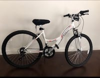 "Mongoose 24"" Girls' Spire Mountain Bike, White with free seat pad, light bulbs and bell 471 mi"