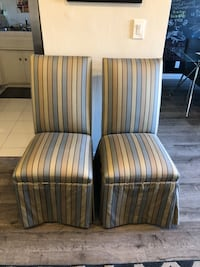 2 beautiful dining chairs, (silk ?) Los Angeles, 91411