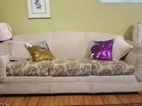 white and brown floral 3-seat sofa Vancouver, V5X 1L8