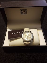 round silver-colored Anne Klein chronograph watch with box Germantown, 20874