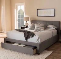 Queen or Full Grey Platform Bed with Storage  Los Angeles, 91356