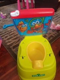 yellow and red The Sesame Street potty trainer