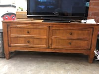 Solid wood TV console West Haven, 97225
