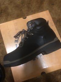 pair of black leather work boots Norfolk, 23503