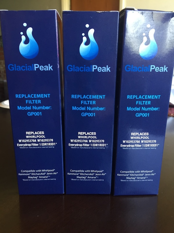 Replacement water filter for refrigerator 3-pack