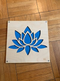 "Wood cutout of lotus flower - roughly 10""x10"" Washington, 20008"