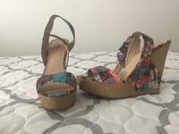 Multi color wedge size 11/ New/JustFab Springfield, 22150