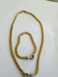 gold-colored chain necklace Niagara Falls, L2E 4E4