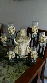 Tequila Bottle w/6 shot glass & stand El Paso, 79936