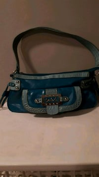 blue and black leather shoulder bag Canfield, N0A 1C0