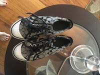 pair of black-and-gray Coach sneakers Fargo, 58103