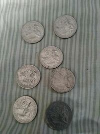 six round silver-colored coins Morristown, 07960