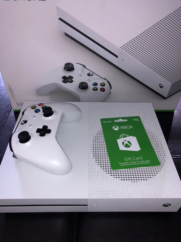 Used Xbox One S 500 Gb 15 Gift Card For Sale In Fitchburg Letgo