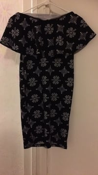 black and gray floral scoop-neck dress Washington