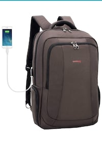 Business Backpack for 17-17.3 Inch Laptop with USB Charging Port Santa Ana, 92704
