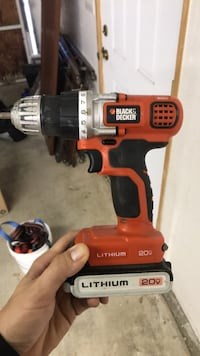 red and black Black & Decker cordless hand drill Riverside, 92506