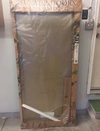 "Contractors Wardrobe #1200 Frameless Shower Enclosure 59 1/8"" x 68 3/8"" Gold Sheen Parker"