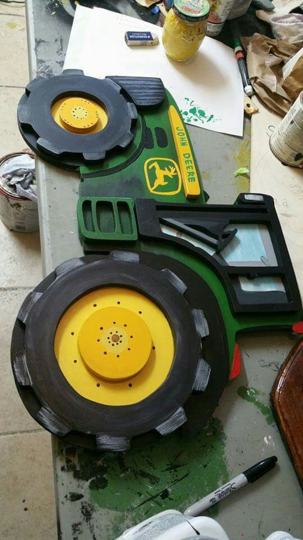 Used Hand Crafted John Deere Tractor Wall Decor For Sale In Weslaco