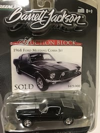 Barrett Jackson 68 Ford Mustang Cobra Jet with rubber tires and great detail new in the package San Antonio, 78264