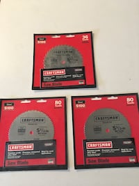 Craftsman 5 1/2inch trim saw blades, (3). Plywood/ combination wood. Los Angeles, 91304