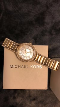 round gold Michael Kors chronograph watch with link bracelet Scottsdale, 85251