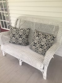 Wicker Sofa - White 36 km
