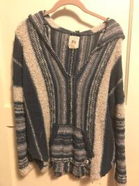 Hooded Billabong sweater poncho